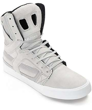Supra Skytop II Light Grey & White Skate Shoes