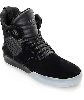 Supra Skytop IV Black Translucent Skate Shoes