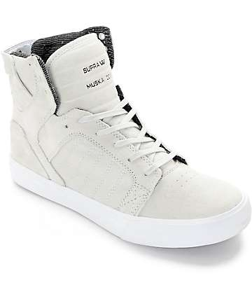 Supra Skytop Light Grey Skate Shoes