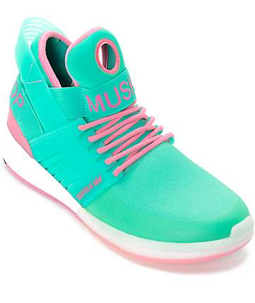 Supra Skytop V Miami & White Skate Shoes