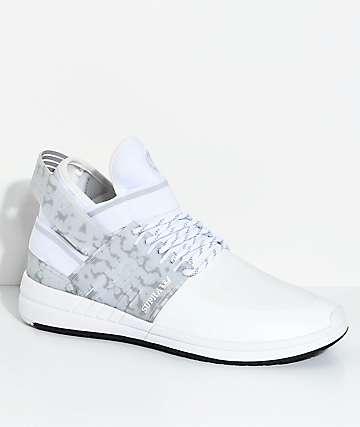 Supra Skytop V zapatos de skate en gris y blanco