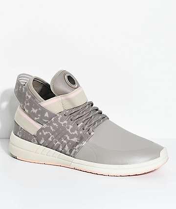 Supra Skytop V zapatos de skate en rosa, caqui y gris