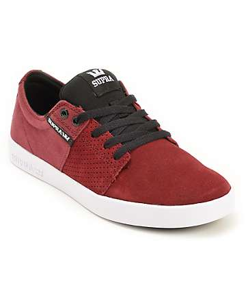 Supra Stacks II Tawny & Black Suede Skate Shoes
