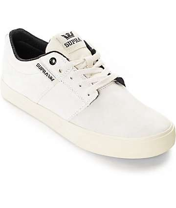 Supra Stacks II Vulc Off White Skate Shoes