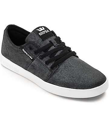 Supra Stacks II Washed Grey Skate Shoes