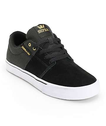 Supra Stacks Vulc II Black & Gold Skate Shoes