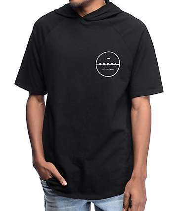 Supra Strikeout Black Hooded T-Shirt