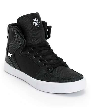 Supra Vaider Black Ballistic & Python Skate Shoes