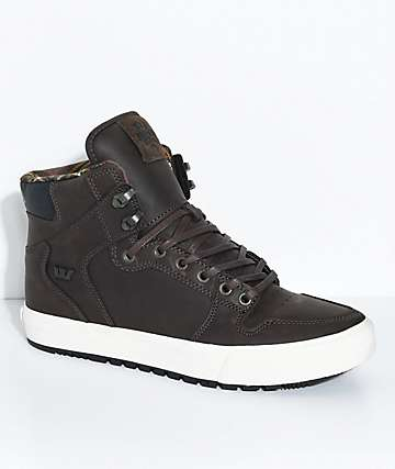 Supra Vaider CW Brown, Bone & Plaid Shoes