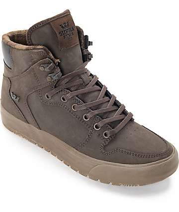Supra Vaider Cold Weather Brown & Gum Boots