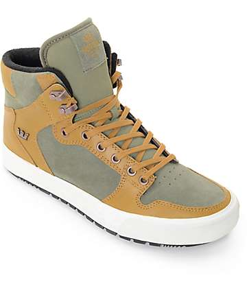 Supra Vaider Cold Weather Olive & Tan Boots