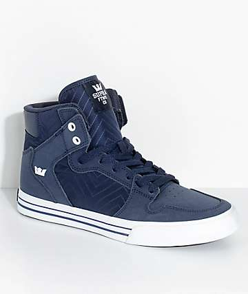 Supra Vaider Midnight Blue Nubuck & Nylon Skate Shoes