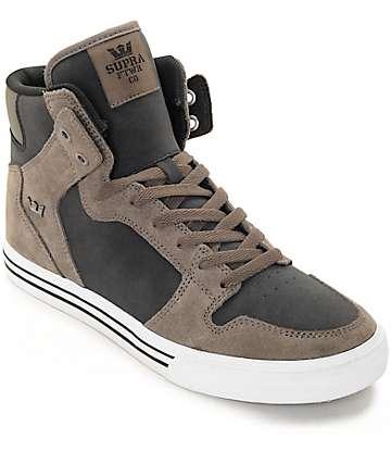Supra Vaider zapatos de skate de nubuck y ante en negro y morilla