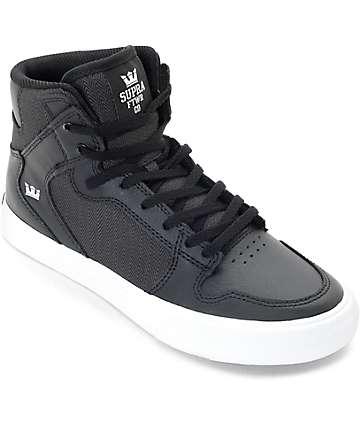 Supra Vaider zapatos de skate en negro para niños