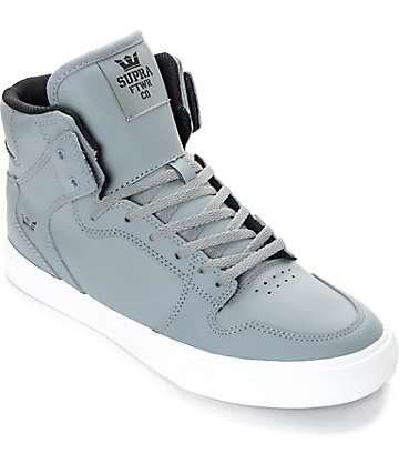 Supra Vaider zapatos de skate para niños en gris y blanco