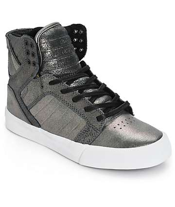 Supra Women's Skytop Pewter Metallic Shoes