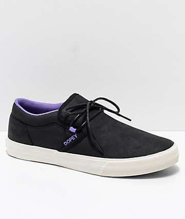 Supra x Disney Cuba Dopey Purple, Black & White Skate Shoes