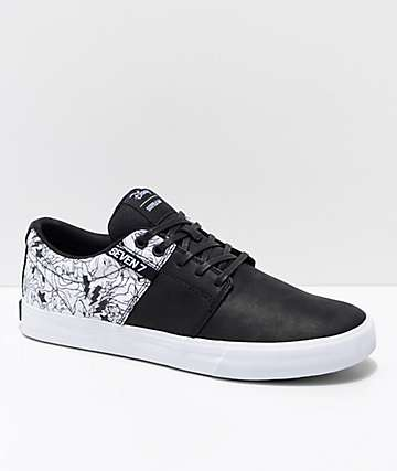 Supra x Disney Stacks II Vulc All 7 Black & White Skate Shoes