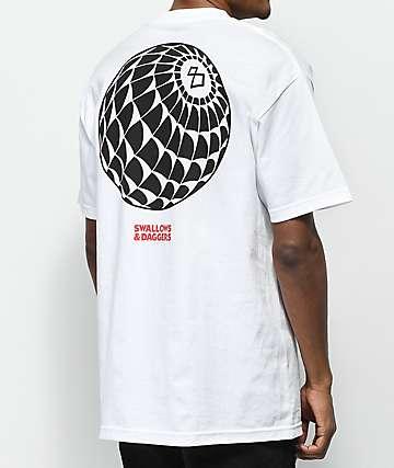 Swallows & Daggers 8-Ball Web White T-Shirt