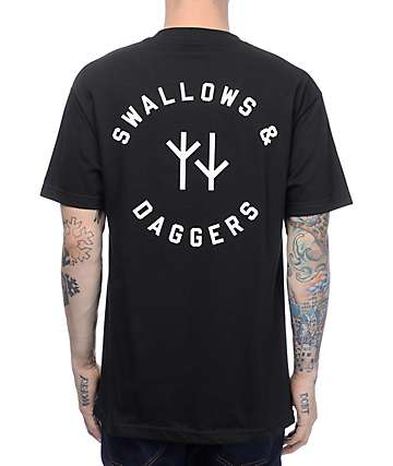 Swallows & Daggers Always Fighting Black T-Shirt
