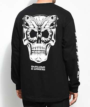 Swallows & Daggers Butterface Black Long Sleeve T-Shirt