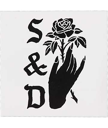 Swallows & Daggers Hand Black & White Sticker
