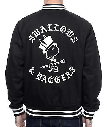 Swallows & Daggers Letters Black Varsity Jacket