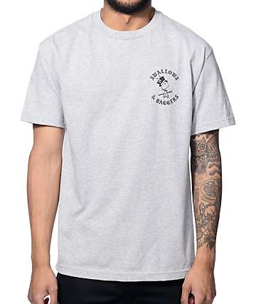 Swallows & Daggers Letters Heather Grey T-Shirt