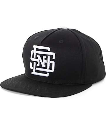 Swallows & Daggers Lockup Black Snapback Hat