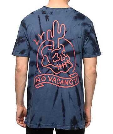 Swallows & Daggers No Vacancy camiseta en azul marino