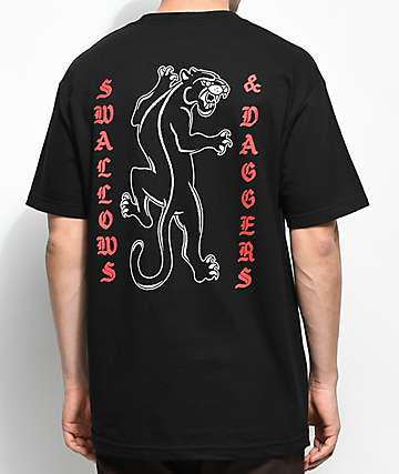 Swallows & Daggers Panther Black T-Shirt