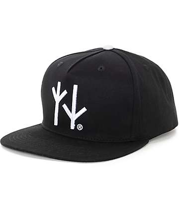 Swallows & Daggers Runes Black Snapback Hat