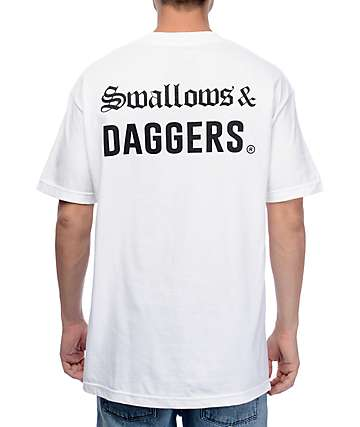 Swallows & Daggers Runs White T-Shirt