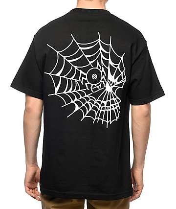 Swallows & Daggers Skull Web camiseta negra