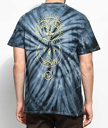 Swallows & Daggers Sun & Moon Grey Tie Dye T-Shirt