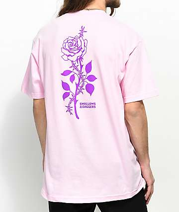 Swallows & Daggers Thorn Rose Pink T-Shirt