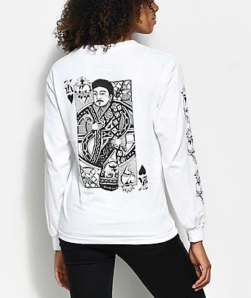 Swallows & Daggers x Rose Whittaker King White Long Sleeve T-Shirt