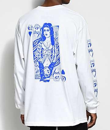 Swallows & Daggers x Rose Whittaker Queen White Long Sleeve T-Shirt
