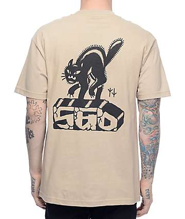 Swallows & Daggers Brick Cat Tan T-Shirt