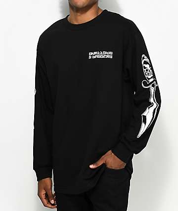Swallows & Daggers Logo Long Sleeve Black T-Shirt