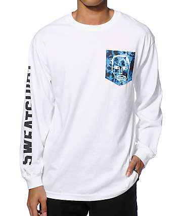 Sweatshirt By Earl Sweatshirt Face Tie Dye Pocket Long Sleeve T-Shirt