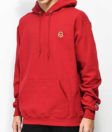 Sweatshirt By Earl Sweatshirt Premium Burgundy Hoodie