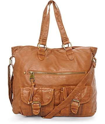 T-Shirt & Jeans Caroline Cognac Tote Bag