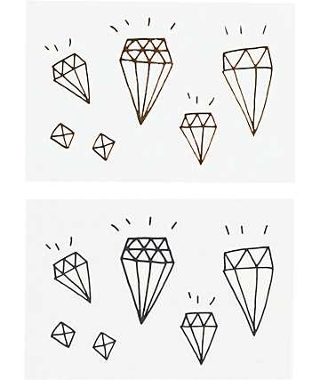 Tattly Diamond Pack Temporary Tattoos