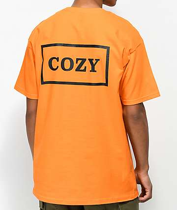 Team Cozy Cozier Box Orange T-Shirt