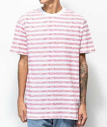 Teenage Always Bored Red & White Stripe T-Shirt