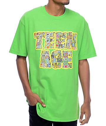 Teenage Cyber Font Lime T-Shirt