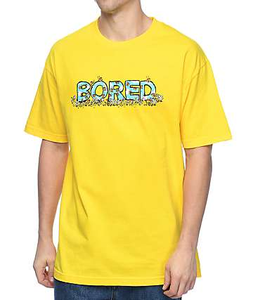 Teenage Flower Bored Yellow T-Shirt