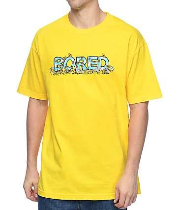 Teenage Flower Bored camiseta en color amarillo