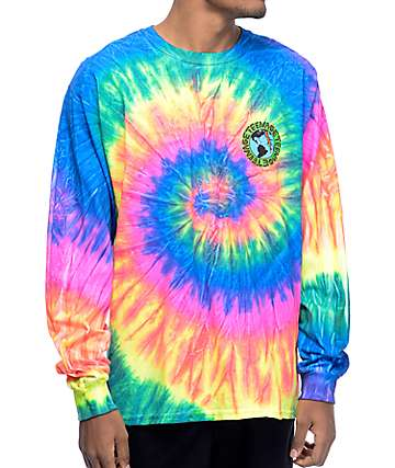 Teenage Madness Multi camiseta de manga larga con efecto tie dye